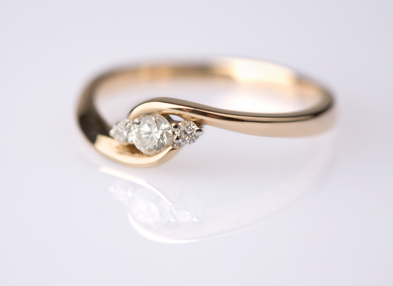 custom gold engagement ring